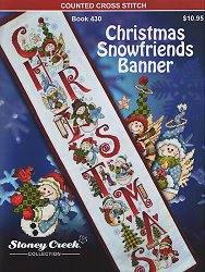 Book 430 Christmas Snowfriends Banner THUMBNAIL