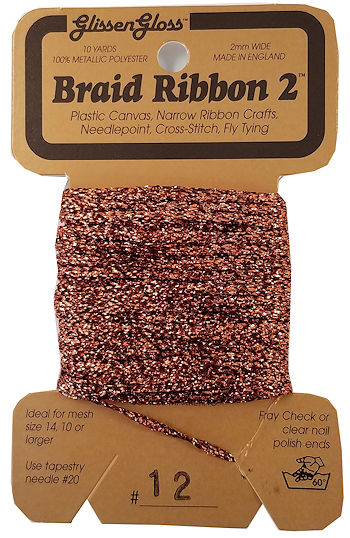 Braid Ribbon #2 Copper (12) THUMBNAIL
