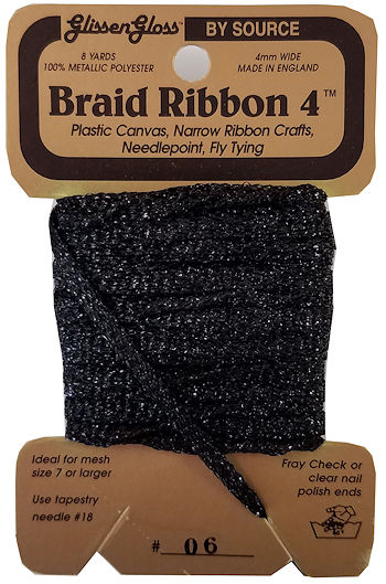 Braid Ribbon #4 Black (06) THUMBNAIL