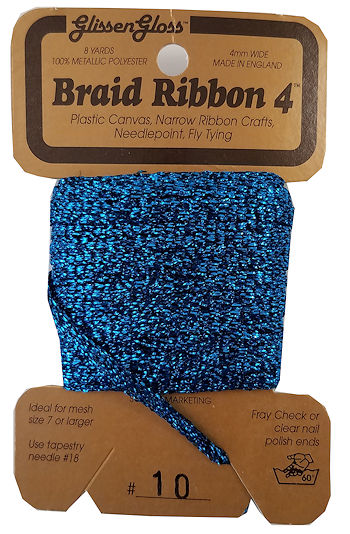 Braid Ribbon #4 Teal Blue (10) THUMBNAIL