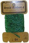 Braid Ribbon #4 Green THUMBNAIL