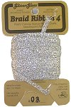 Braid Ribbon #4 Silver