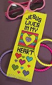picture of 14 ct Aida Lemon Twist  Bright Ideas Bookmark showing design from Stoney Creek February 2008 magazine