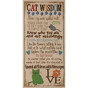 Bucilla Cross Stitch Kit - Cat Wisdom