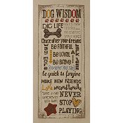 Bucilla Cross Stitch Kit - Dog Wisdom