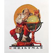 Bucilla Heirloom Collection - Santa At The Globe Kit