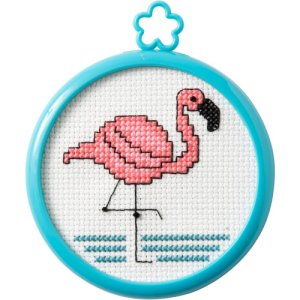 Bucilla Cross Stitch Kit - My 1st Stitch - Tropical Flamingo