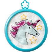Bucilla Cross Stitch Kit -My 1st Stitch - Mystical Unicorn THUMBNAIL