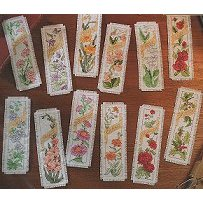 Bucilla Kit - Flowers of the Month Bookmark Kit THUMBNAIL