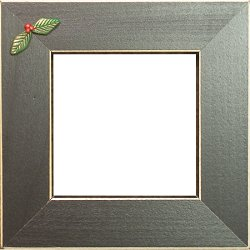 Button Frame - Holly 4x4 Black THUMBNAIL