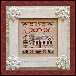 Country Cottage Needleworks - Cottage of the Month - December Cottage MAIN