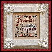 Country Cottage Needleworks - Cottage of the Month - December Cottage THUMBNAIL