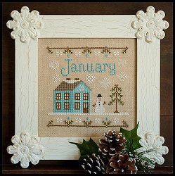 Country Cottage Needleworks - Cottage of the Month - January Cottage MAIN