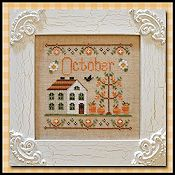 Country Cottage Needleworks - Cottage of the Month - October Cottage THUMBNAIL