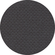 Color swatch of 16ct chalkboard black Aida cross stitch fabric