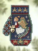 Mill Hill Bead Kit Charmed Mittens - Angel Heart THUMBNAIL