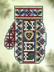 Mill Hill Bead Kit Charmed Mitten - Noel Heart MAIN