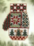 Mill Hill Bead Kit Charmed Mittens - Patchwork Holiday THUMBNAIL