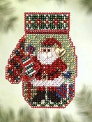 Mill Hill Bead Kit Charmed Mitten - Santa's Night
