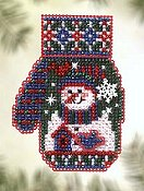Mill Hill Bead Kit Charmed Mitten - Snowman's Garden THUMBNAIL