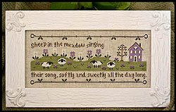 Country Cottage Needleworks - Sheep In The Meadow MAIN