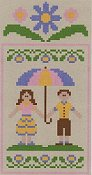 Country Cottage Needleworks - Spring Social Series #2 Springtime Couple THUMBNAIL