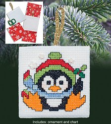 Christmas Pocket Ornaments - Christmas Penguin