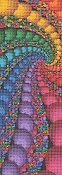 Cross Stitch Collectibles - Fractal 106 Bookmark_THUMBNAIL