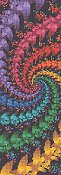 Cross Stitch Collectibles - Fractal 057 Bookmark_THUMBNAIL