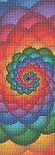 Cross Stitch Collectibles - Fractal 053 Bookmark THUMBNAIL
