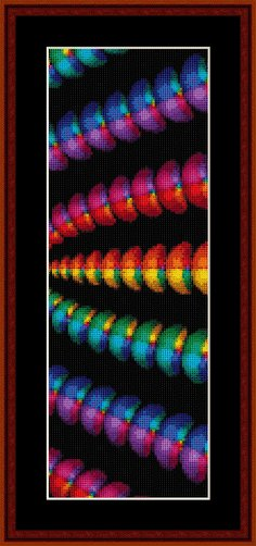 Cross Stitch Collectibles - Fractal 130 Bookmark_THUMBNAIL