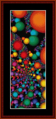Cross Stitch Collectibles - Fractal 135 Bookmark_THUMBNAIL
