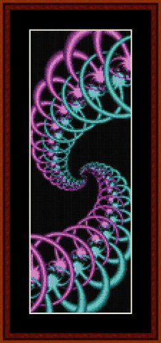 Cross Stitch Collectibles - Fractal 138 Bookmark THUMBNAIL