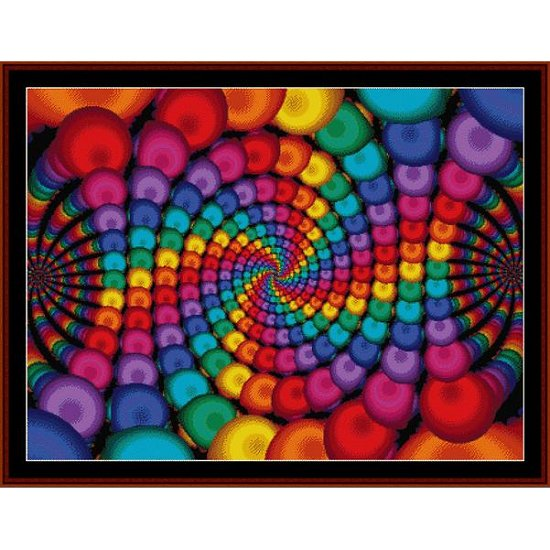 Cross Stitch Collectibles - Fractal 141_THUMBNAIL