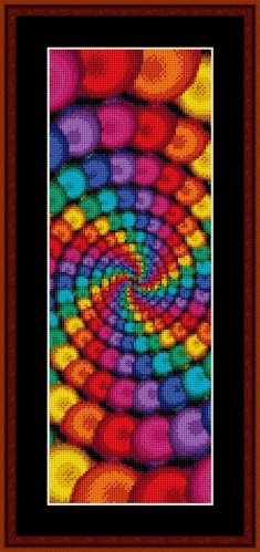 Cross Stitch Collectibles - Fractal 141 Bookmark THUMBNAIL