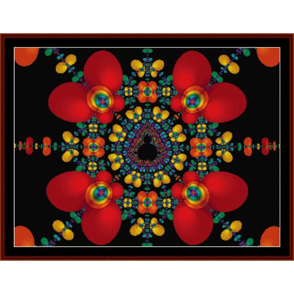 Cross Stitch Collectibles - Fractal 168_THUMBNAIL