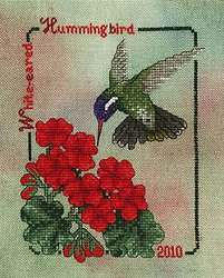 Crossed Wing Collection - Commemorative Hummingbirds of the World 2010 - White-eared Hummingbird MAIN