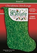 Christmas Stockings Chart - Believe