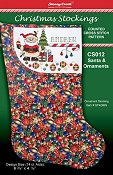 Christmas Stockings Chart - Santa & Ornaments