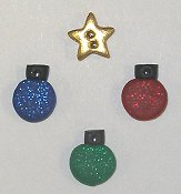 Button Pack - Santa & Ornaments Stocking