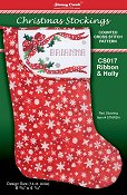 Christmas Stockings Chart - Ribbon & Holly
