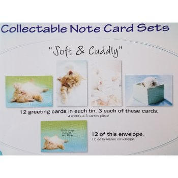 Tree Free Greetings Soft & Cuddly Tin/Notecards