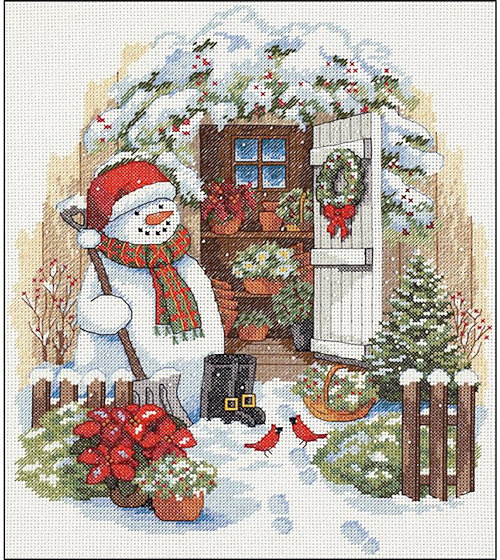 Dimensions Kit - Garden Shed Snowman_MAIN