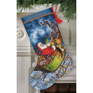Dimensions Stocking Kit - Santa's Flight MAIN