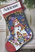 Dimensions Stocking Kit - Cute Carolers THUMBNAIL