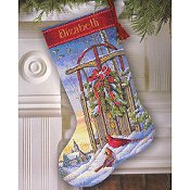 Dimensions Stocking Kit - Christmas Sled_THUMBNAIL