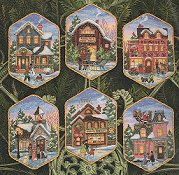 Dimensions Gold Collection Kit - Christmas Village Ornaments THUMBNAIL