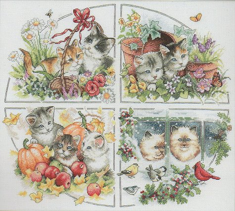 Dimensions Gold Collection Kit - Four Seasons Kittens