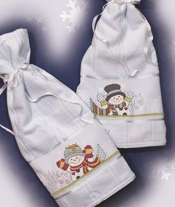 His & Hers Snowman Towels (E-Delivery)