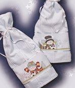 His & Hers Snowman Towels (E-Delivery) THUMBNAIL